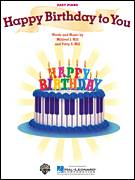 Cover icon of Happy Birthday To You sheet music for piano solo by Mildred J. Hill and Patty Smith Hill, beginner