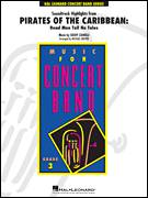 Cover icon of Pirates of the Caribbean: Dead Men Tell No Tales sheet music for concert band (Bb clarinet 2) by Michael Brown