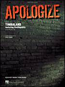 Cover icon of Apologize sheet music for voice, piano or guitar by Timbaland featuring OneRepublic, OneRepublic, Timbaland and Ryan Tedder, intermediate skill level