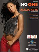 Cover icon of No One sheet music for piano solo by Alicia Keys