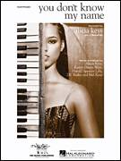 Cover icon of You Don't Know My Name sheet music for piano solo by Alicia Keys and Kanye West, easy piano
