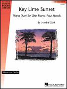 Cover icon of Key Lime Sunset sheet music for piano four hands by Sondra Clark, intermediate skill level