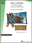 Cover icon of He's A Pirate sheet music for piano solo (elementary) by Klaus Badelt, Jennifer Linn and Miscellaneous, beginner piano (elementary)