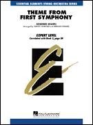 Cover icon of Theme from First Symphony (COMPLETE) sheet music for orchestra by Johannes Brahms, Harvey Whistler and Herman Hummel, classical score, intermediate