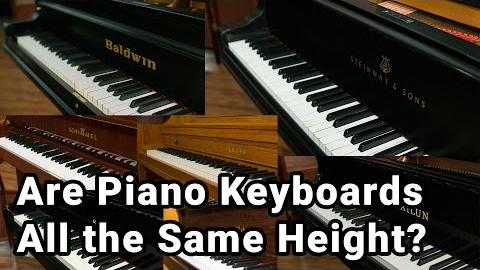 Are All Piano Keyboards the Same Height?