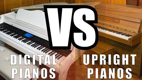 Digital Pianos Vs. Upright Pianos