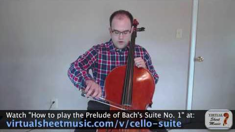 String crossings on the cello
