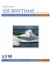 Cover icon of 105 Rhythms for the Young Violinist sheet music for violin by William Fitzpatrick, classical score, easy/intermediate violin