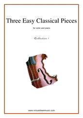 Cover icon of Three Easy Pieces (coll.1) sheet music for violin and piano, classical score, easy/intermediate violin
