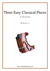Cover icon of Three Easy Pieces (coll.2) sheet music for violin and piano