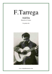 Cover icon of Adelita, Mazurka in E minor sheet music for guitar solo by Francisco Tarrega, classical score, intermediate skill level