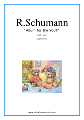 Cover icon of Album for the Youth I sheet music for piano solo by Robert Schumann, classical score, easy