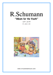 Cover icon of Album for the Youth III sheet music for piano solo by Robert Schumann, classical score, intermediate skill level