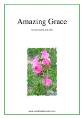 Cover icon of Amazing Grace sheet music for two violins and cello, easy/intermediate skill level