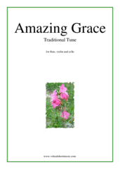 Cover icon of Amazing Grace sheet music for flute, violin and cello, easy/intermediate