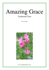 Cover icon of Amazing Grace sheet music for two flutes, easy duet
