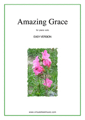 Cover icon of Amazing Grace (easy version) sheet music for piano solo, easy