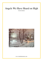 Cover icon of Angels We Have Heard on High sheet music for two horns, beginner duet
