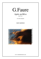 Cover icon of Apres un Reve Op.7 No.1 sheet music for cello and piano by Gabriel Faure, classical score, intermediate