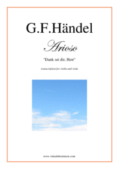 Cover icon of Arioso - Dank sei dir, Herr sheet music for violin and viola by George Frideric Handel, classical wedding score, intermediate duet