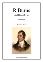 Cover icon of Auld Lang Syne (parts) sheet music for brass quintet by Robert Burns, classical score, intermediate