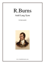 Cover icon of Auld Lang Syne sheet music for brass quartet by Robert Burns, classical score, intermediate