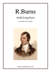 Cover icon of Auld Lang Syne sheet music for clarinet and piano by Robert Burns, classical score, easy skill level