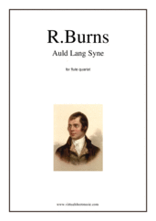 Cover icon of Auld Lang Syne sheet music for flute quartet by Robert Burns, classical score, intermediate