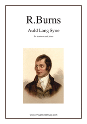 Cover icon of Auld Lang Syne sheet music for trombone and piano by Robert Burns, classical score, easy/intermediate