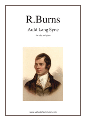 Cover icon of Auld Lang Syne sheet music for tuba and piano by Robert Burns, classical score, easy/intermediate