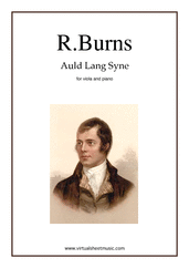 Cover icon of Auld Lang Syne sheet music for viola and piano by Robert Burns, classical score, easy/intermediate