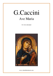 Cover icon of Ave Maria sheet music for voice and piano by Giulio Caccini