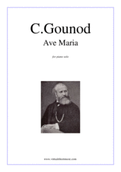 Cover icon of Ave Maria sheet music for piano solo by Charles Gounod, classical wedding score, easy/intermediate