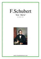 Cover icon of Ave Maria sheet music for piano solo by Franz Schubert, classical wedding score, intermediate