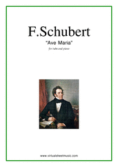 Cover icon of Ave Maria sheet music for tuba and piano by Franz Schubert, classical wedding score, intermediate