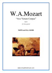 Cover icon of Ave Verum Corpus sheet music for brass quintet by Wolfgang Amadeus Mozart, classical score, easy skill level
