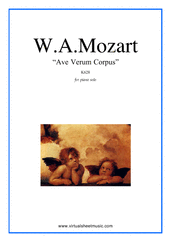 Cover icon of Ave Verum Corpus sheet music for piano solo by Wolfgang Amadeus Mozart, classical score, easy/intermediate