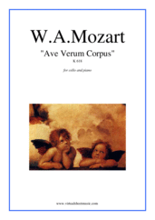 Cover icon of Ave Verum Corpus sheet music for cello and piano by Wolfgang Amadeus Mozart, classical score, easy/intermediate cello