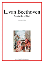 Cover icon of Sonata Op.12 No.1 sheet music for violin and piano by Ludwig van Beethoven