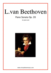 "Cover icon of Sonata Op.28 ""Pastorale"" sheet music for piano solo by Ludwig van Beethoven, classical score, intermediate/advanced"