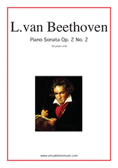 Cover icon of Sonata Op.2 No.2 sheet music for piano solo by Ludwig van Beethoven, classical score, intermediate/advanced skill level