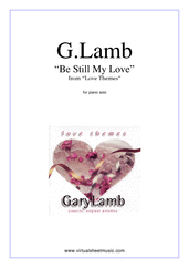 Cover icon of Be Still My Love sheet music for piano solo by Gary Lamb, easy/intermediate