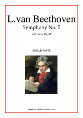 Cover icon of Symphony No.5 in C minor Op.67 (parts) sheet music for orchestra by Ludwig van Beethoven, classical score, advanced skill level