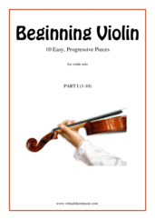 Beginning Violin, part I for violin solo - beginner violin sheet music