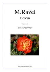 Cover icon of Bolero sheet music for piano solo by Maurice Ravel, classical score, easy skill level
