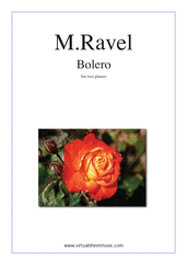 Cover icon of Bolero sheet music for two pianos by Maurice Ravel