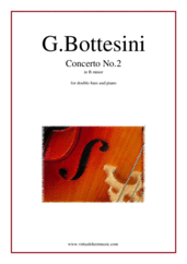 Cover icon of Concerto No.2 in B minor sheet music for double-bass and piano by Giovanni Bottesini, classical score, advanced