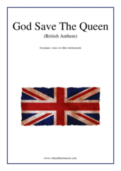 Cover icon of God Save The Queen (British Anthem) sheet music for piano, voice or other instruments, easy skill level