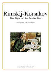 Cover icon of The Flight of the Bumblebee sheet music for double-bass and piano by Nikolai Rimsky-Korsakov, classical score, advanced