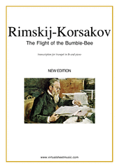 Cover icon of The Flight of the Bumblebee sheet music for trumpet and piano by Nikolai Rimsky-Korsakov, classical score, advanced